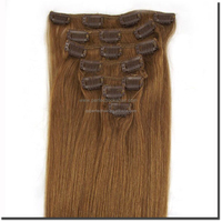 Top Quality Russian Human Hair Clip In Hair Extensions For White Women