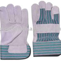 Full Palm Gloves Stripe Cotton Back