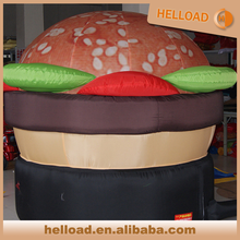 popular inflatable giant fast food replicas inflatable hamburger model for sale