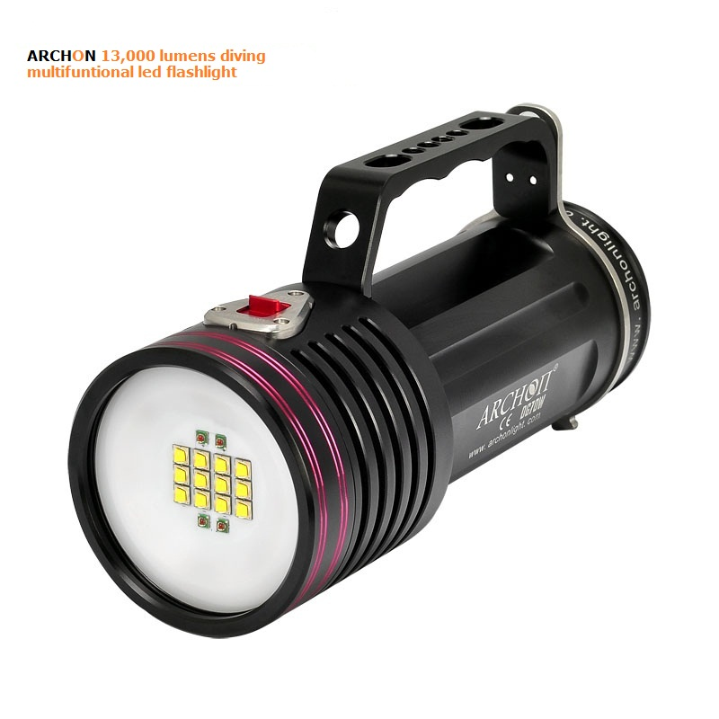 ARCHON most powerful handheld 13000 lumen diving super <strong>led</strong> rechargeable flashlight