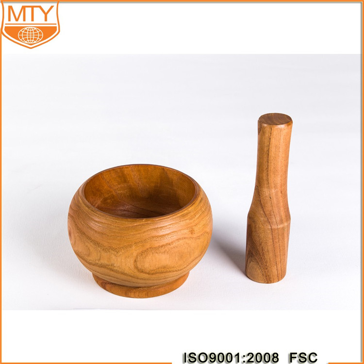 Wood Mortar and Pestle Set Wooden Garlic Pugging Pot Herb Mill Crusher Press Masher Grinder Pharmacy Mixing Grinding Bowl New