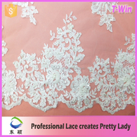 new fashion lace and lace fabric/hot manufacturer crystal beads for wedding dress/wholesale night dress sexy bridal