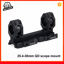 arisoft tactical aluminum 25.4 30mm ak double ring scope mount flashlight holder torch clamp mounting 20mm picatinny weaver rail