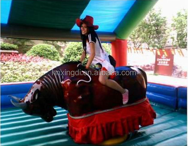 Professional Design Amusement Park Equipments Inflatable Mechanical Rodeo Bull for Sale