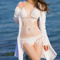 Z91102A Handmade crotchet halter bikini women bathing suit swimwear sexy