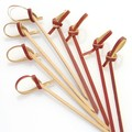 decorative cocktail finger food bamboo knot skewers 15cm for food /party