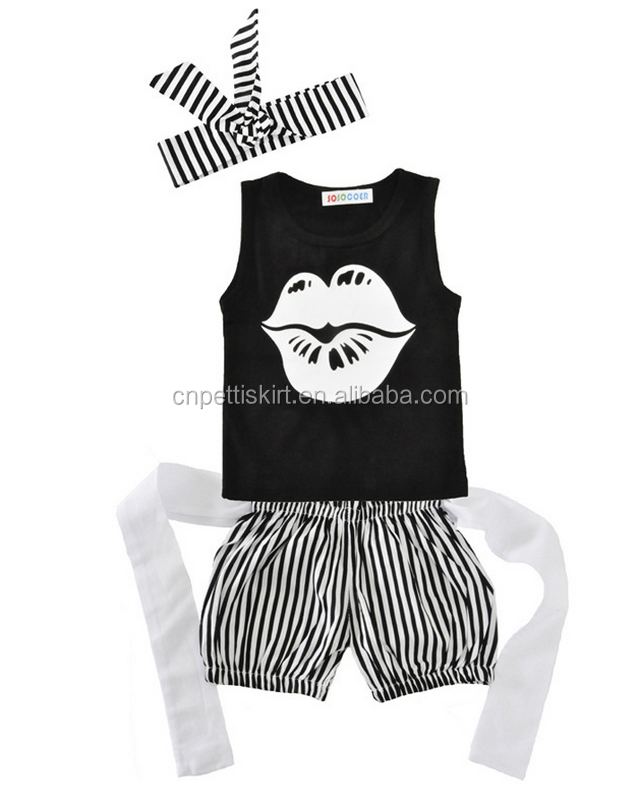 2017 hot fashion kiss printing black top and short pants cute baby boy clothes handsome children outfits 100% cotton boutique