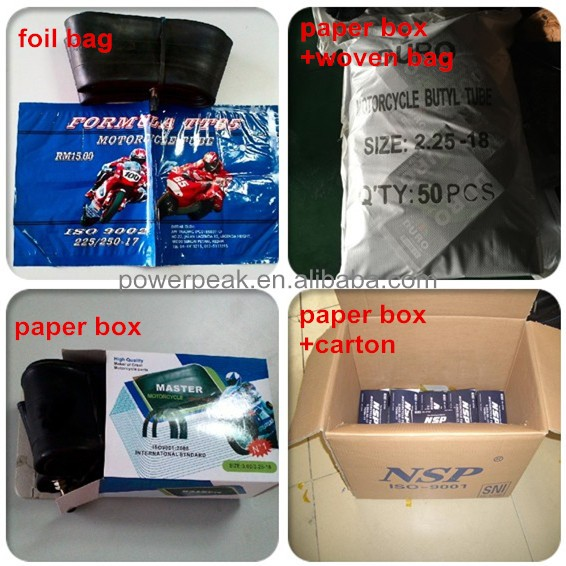 Butyl / Natural Inner Tube 250/275-17 2.75/3.00-18 Motorcycle Inner Tube