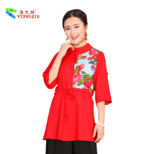 Cotton And Linen Modern Chinese Traditional Blouse