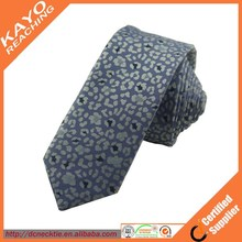 wholesale woven jacquard customized floarl neck tie