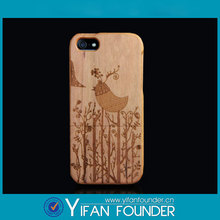 Handmade Natural Wood Wooden Bamboo Cover for iphone 5s, bird engraved cell phone case for Man
