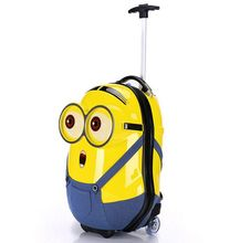 2017 hot sale cheap price Minions cute designer kids luggage