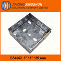 HOT Sale BS metal single gang electric box/junction box
