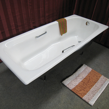 NH-007  cast iron drop in enamel bath tubs for Russia