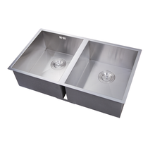 Alibaba china crazy Selling Under mounted750x440x200mmDouble bowls stainless steel kitchen sink with tray
