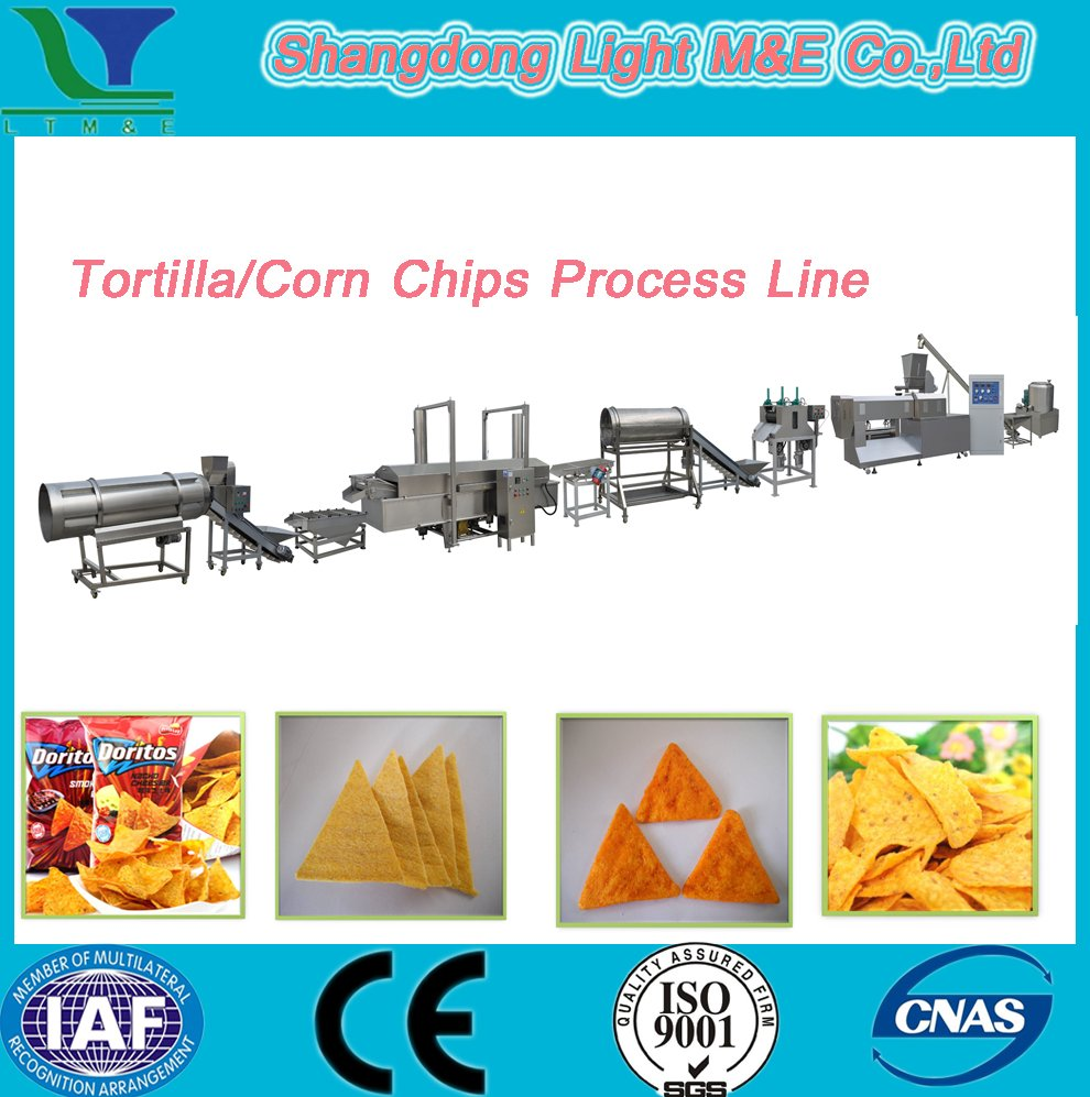 Factory Doritos Light Corn Chips Snacks Tortilla Making Machine