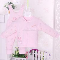 fashion 100% organic cotton baby clothes kids footed pajamas
