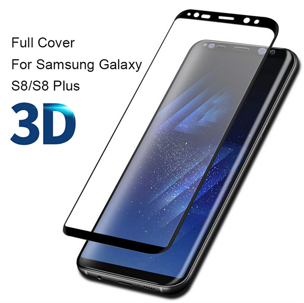 3D Curved Full Cover Tempered Glass For Samsung Galaxy S8 Screen Protector Protective Film For Samsung Galaxy S8 Plus Glass