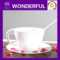 Procelain disposable plastic tea cup and saucer