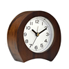 Real wood hand crafted silent living room bedroom table desk wooden alarm clock with ROHS