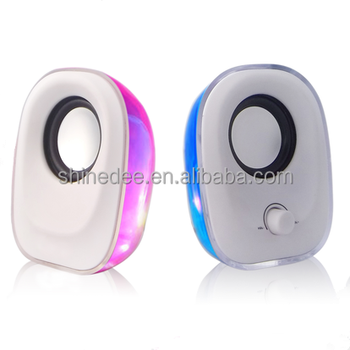 2017 New Popular Small Colorful Hi-speed USB Speaker