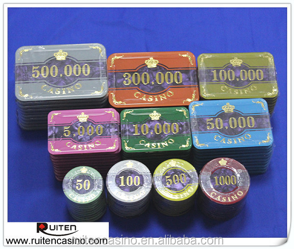 Acrylic Poker Chips Baccarat Acrylic Chip Square and Round Poker Chip Set