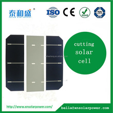 Polycrystalline Silicon Material customized Size cut solar cell