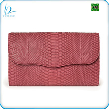 Real exotic luxury ladies genuine python snake skin leather clutch bag