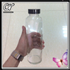 classic 500ml empty glass beverage bottle with black smooth cap for juice