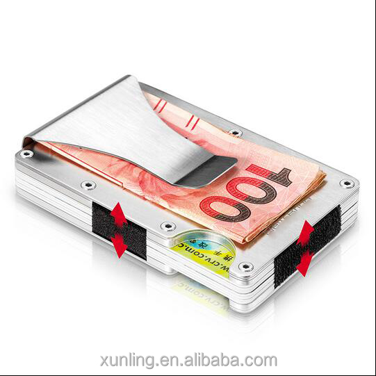 Factory Direct Sales Stainless Steel Credit Card Case Holder Wallet/Metal Card Holder with RFID Function