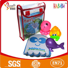 baby bath book with bath toy