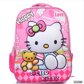 Kids' Pink Hello Kitty School Bag for girls