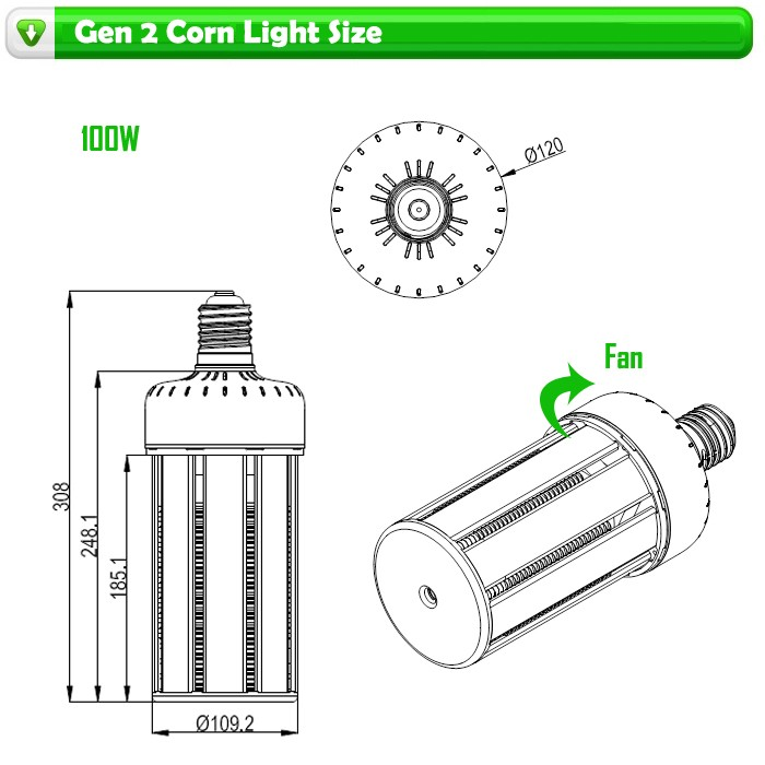led lights for home 360 degree e27 e40 100 watt 60 watt 220v led corn lamp