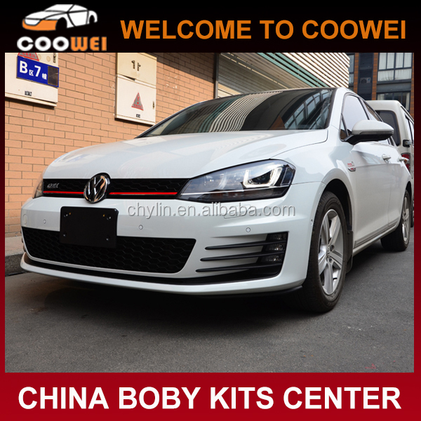 ABS Golf7 To GTI Body kit For VW Golf7 MK7(front bumper, side skirts, rear diffuser)