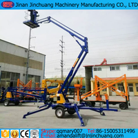 14m Trailer mounted mobile hydraulic cherry picker boom lift for sale