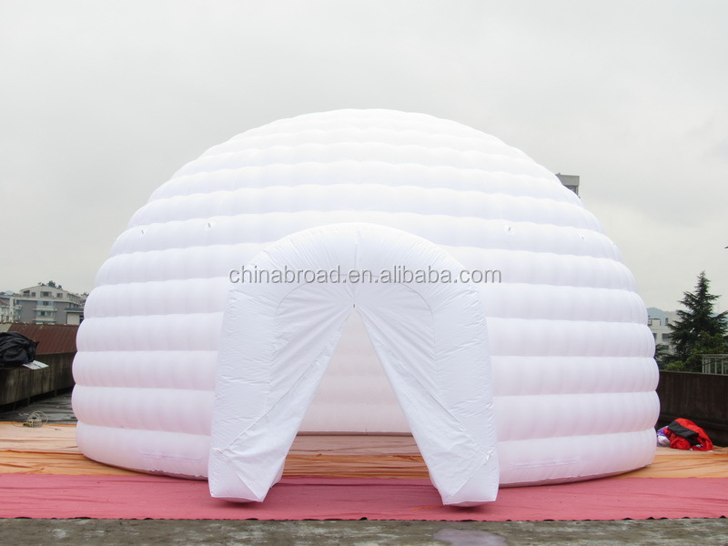 8m diameter white inflatable dome tent for sale