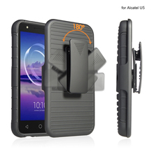 Hot Sell Hybrid Rugged Case Hard Shell Cover with Kickstand For Alcatel U5 combo holster case 5 function
