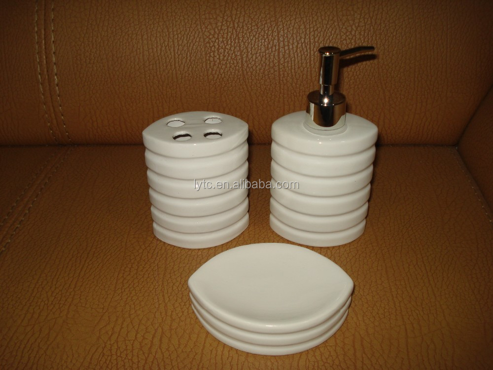 Hot sale white ceramic bathroom set bathroom accessories for Bathroom fittings sale