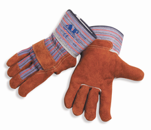 High quality cow split full palm leather working safety gloves