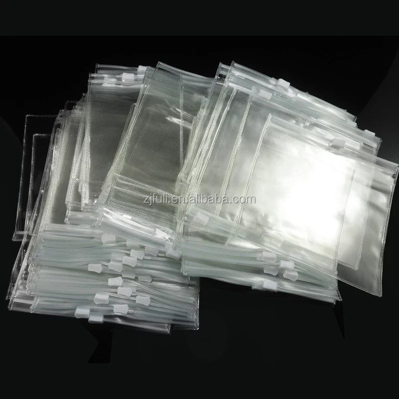 pvc bags packaging zipper