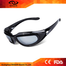 High impact protective shooting glasses cool goggles with hard case foam sunglasses for military field safety sunglasses