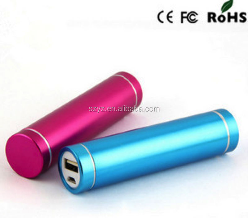 lipstick phone power bank 1200mah,2600 mah power bank for promotion,wholesale power bank for htc one x