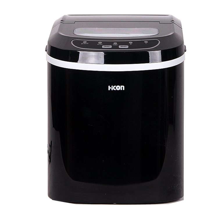 Wellcome small household black round ice machines ice machine 12 kg
