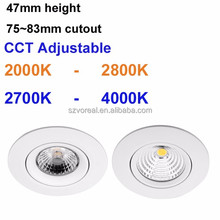 Dimmable 3 years warranty norge style cob led downlight 230v CCT Adjustable 2000-2800k IP44 dimming well with eltako dimmer