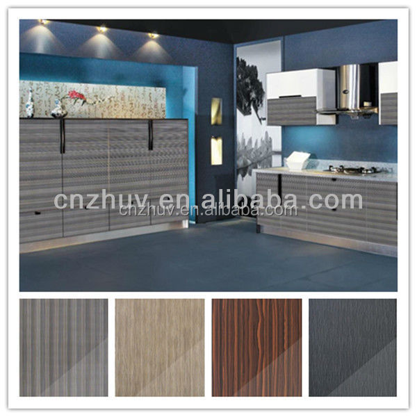 Acrylic coated high gloss kitchen cabinet doors