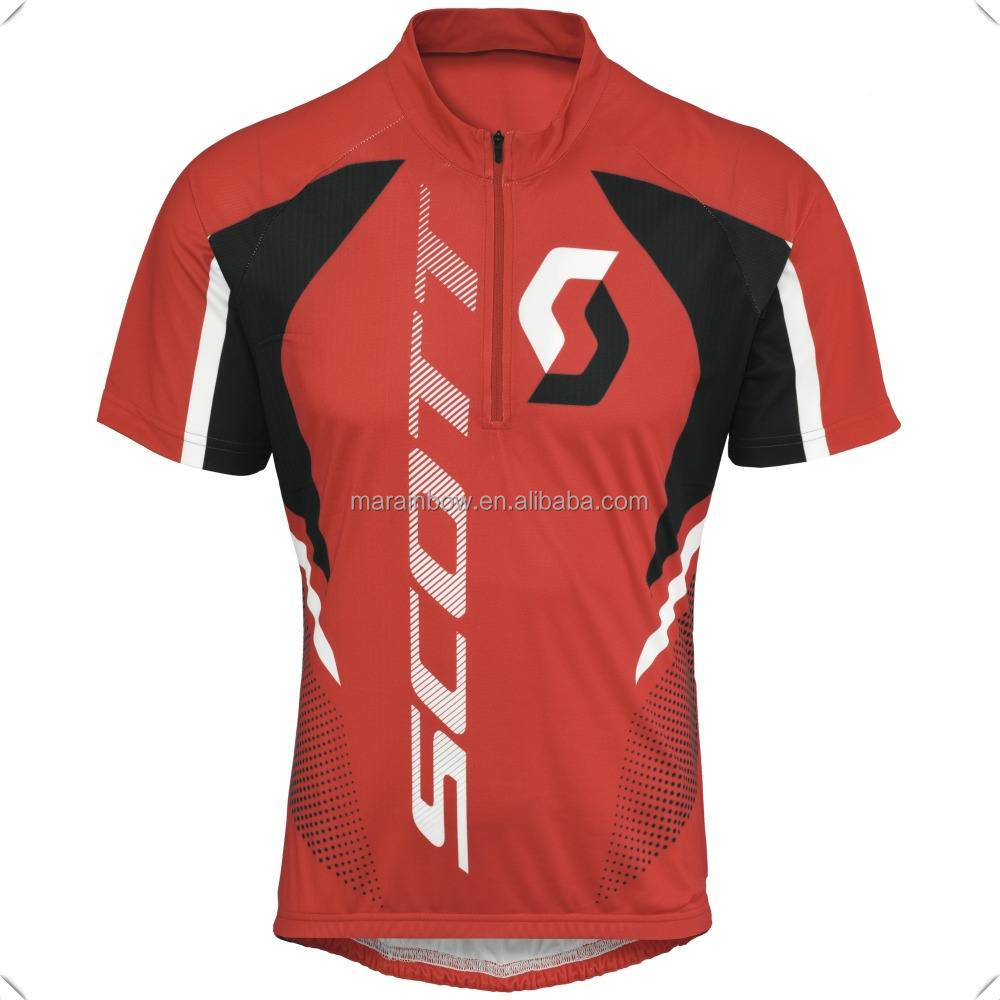 fast dry performance sublimated printing half zip sports polo shirts short sleeve pullover shirts bicycle top clothes for men