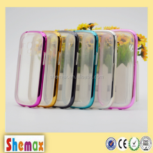 Multi-color TPU+PC combo clear case for s3 mini, For samsung galaxy s3 mini case