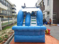 Small Dolphin commercial inflatable water slides for sale