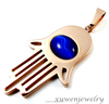 blue tiger eye rose gold filled 316l stainless steel opal hamsa