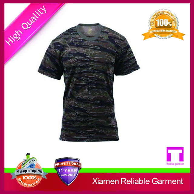 cheap camouflage fabric men t-shirts /men clothes china supplier men's clothing
